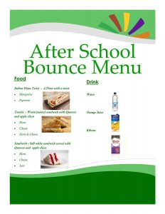 After School Menu